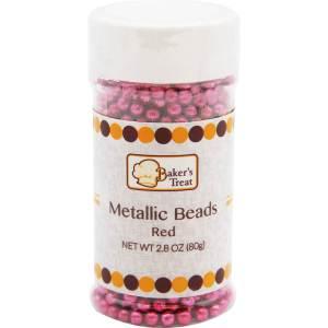 Metallic Beads - Red